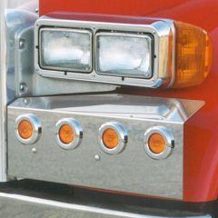 Peterbilt 379 304 Stainless Fender Guards 8 LEDs