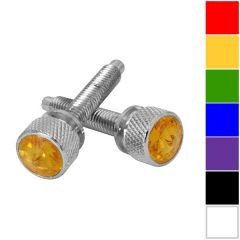Kenworth 2001-2005 Chrome Dash Screws with Crystal PR