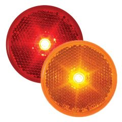 """2-1/2"""" Single LED Light with Reflector"""