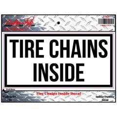 Tire Chain Vinyl Decal