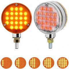 """4"""" 21 LED Round Smart Dynamic Sequential Double Face Light"""