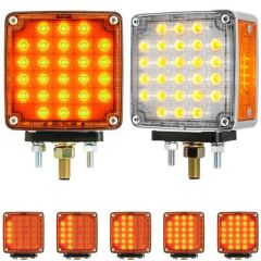 """4"""" 21 LED Square Smart Dynamic Sequential Double Face Light"""