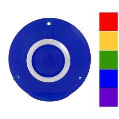 "4"" Plastic Pedestal Light Lens with Chrome Rim"