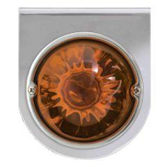 Stainless Bracket with Dark Amber Glass Light