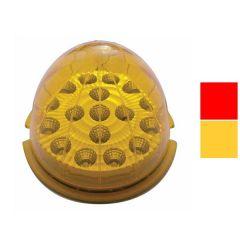 17 LED Round Reflector Cab Light