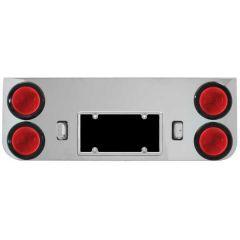 "Chrome Rear Center Panel with Four 4"" Inc. Lights"