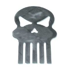 Chrome Small Skull Cut Out Stud Mount