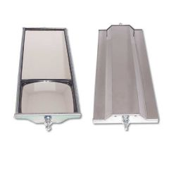 "6"" x 16"" Stainless Steel West Coast Dual Mirror"