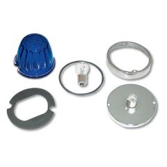Blue Reflector Glass Cab Light Lens 1 Wire
