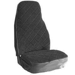 Gray/Charcoal Velour Bostrom Seat Cover