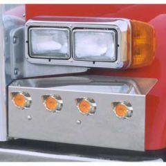 Peterbilt 379 Fender Guards With Lights and Bezels