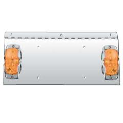 Hinged One Plate Holder with Double Bulb Lights