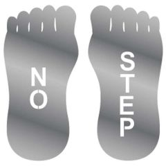 No Step Stainless Steel Sign