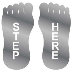 Step Here Stainless Steel Sign
