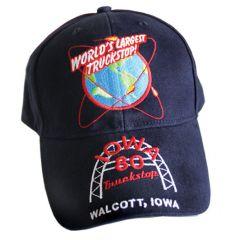 Iowa 80 World's Largest Truckstop Hat Navy