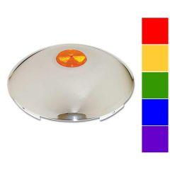 Universal Chrome Front Reflector Hubcap 7/16 lip