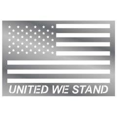 """13"""" United We Stand American Flag Stainless Sign"""