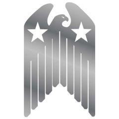 """7"""" Eagle Shield Stainless Steel Cut Out Sign"""