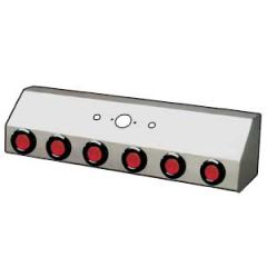 Stainless Air Line Box Single Connection w/Lights