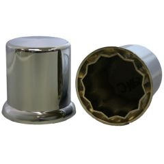 """3/8"""" Chrome Plastic Top Hat Nut Cover - Push On"""