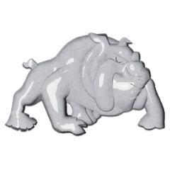 3D LH Chrome Bulldog Accent Tape Mount