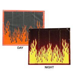 Reflective Flames Bugscreen