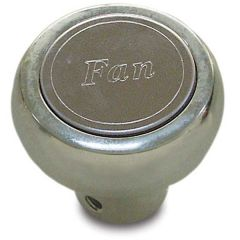 Chrome Aluminum Fan Dash Knob