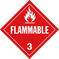 """""""Flammable"""" Placard"""