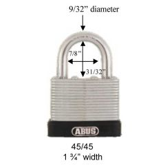 Galvanized Steel 45/45 Padlock