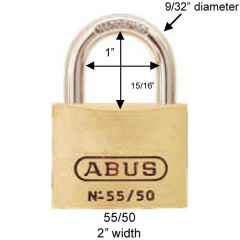 Solid Brass 55/50 Padlock