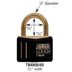 Solid Brass Vinyl Coated All Weather Padlock
