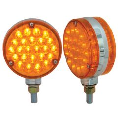 """Amber/Amber 4"""" Round Double Face Pearl LED Light"""