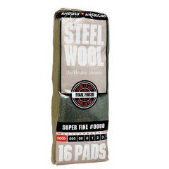 Super Fine Steel Wool, Grade #0000, 16-Pack