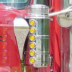 "INTL 9900ix 13"" Donaldson Front AC Light Bars w/Bz"