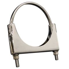 "8""D Chrome Alum. Welded Saddle Clamp Flat U-Bolt"