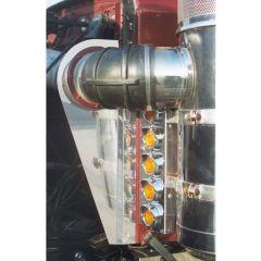 "Peterbilt 359 15"" Vortox Front AC Light Bars"