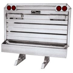 """65""""H x 70""""W Cab Rack with Chain Hangers and Trays"""