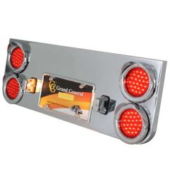 """Chrome Rear Center Panel with Four 4"""" Pearl LED"""