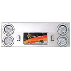 "Chrome Rear Center Panel with Four 4"" LED"