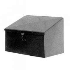 """24""""L x 18""""H x 18""""D Steel Slope Box with Hasp Lock"""