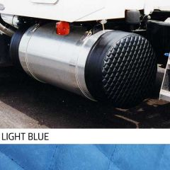 """28"""" Light Blue Quilted Fuel Tank Covers"""