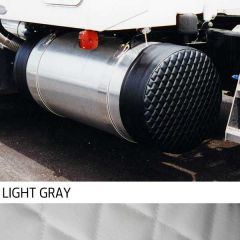 """23"""" Light Gray Quilted Fuel Tank Covers"""