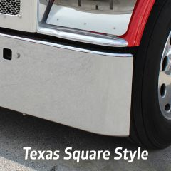 18-Inch Texas Square Chrome Bumper for Kenworth W900A